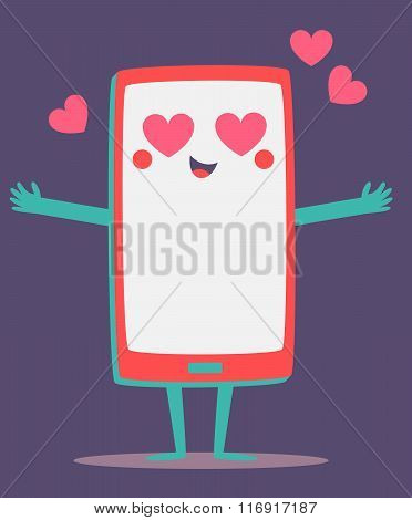 Cute Cell Phone Crazy In Love