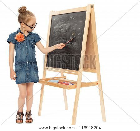 Girl playing in school