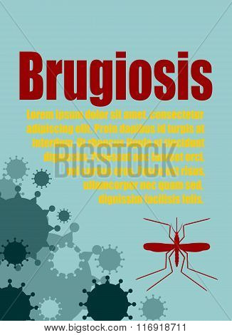 Vector Brochure, Report Or Flyer Design Template. Brugiosis Relative