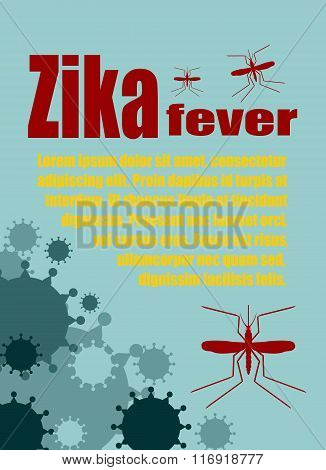 Vector Brochure, Report Or Flyer Design Template. Zika Fever Relative
