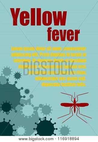 Vector Brochure, Report Or Flyer Design Template. Yellow Fever Relative