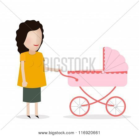 woman with stroller