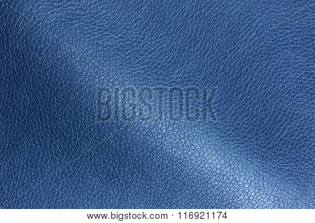 Blue Glossy Artificial Leather Texture