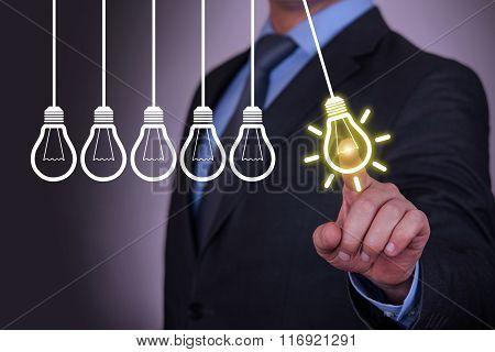 Idea Light Concepts on Visual Screen