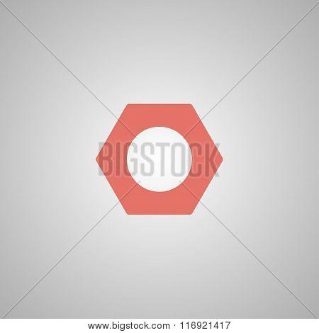Vector Nut Flat Icon