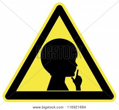 Keep Silent Sign With Child