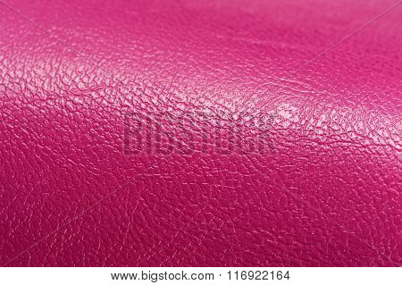Bright Pink Glossy Artificial Leather Background Texture