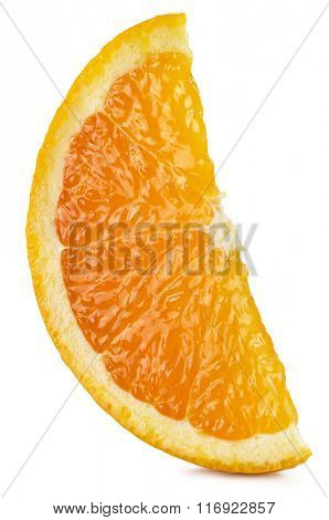 Segment of orange fruit. File contains clipping paths.