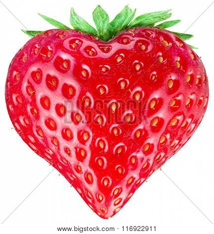 Strawberry heart. Isolated on a white background. Clipping path.