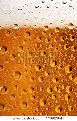 Detail Of Beer Glass With Drops Of Water