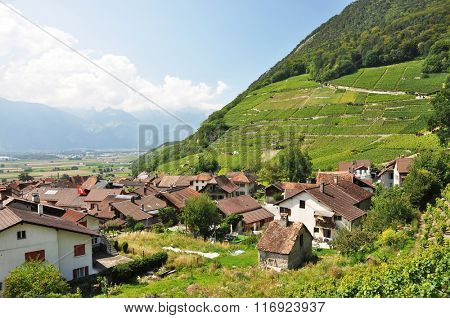 Ollon town, French part of Switzerland