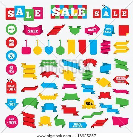 Sale speech bubble icon. Discount star symbol