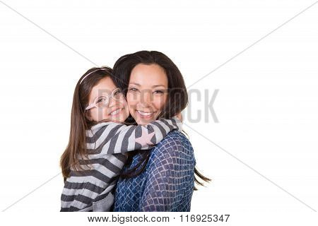 A mother and daughter
