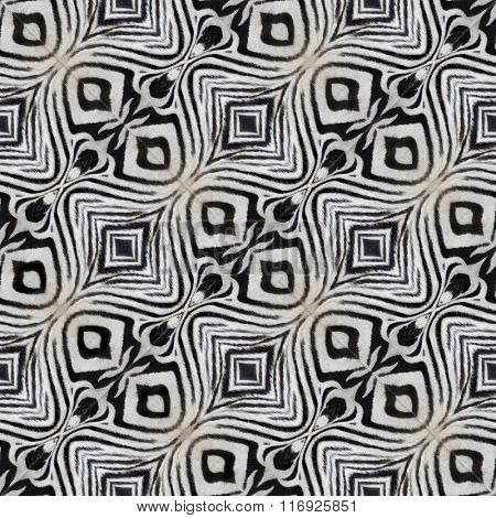 Artificial Zebra Leather Seamless Pattern