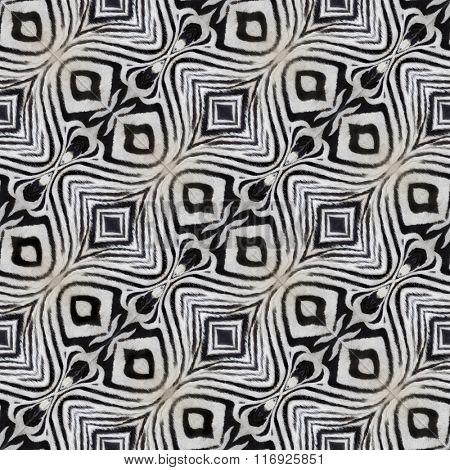 Artificial Zebra Leather Seamless Pattern