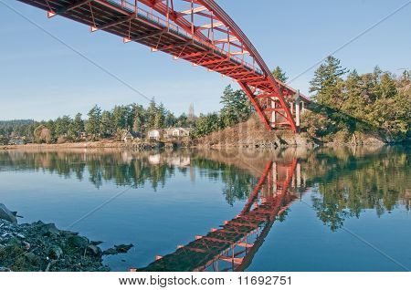 Rainbow Bridge Over Swinomish Channel