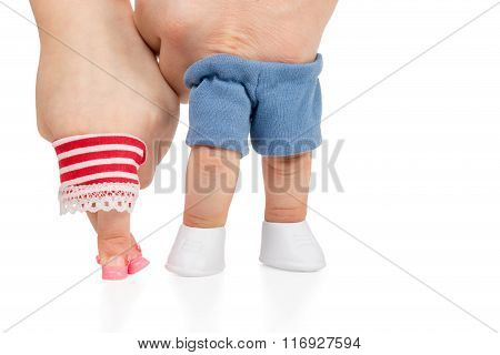 Children Girl And Male Hands