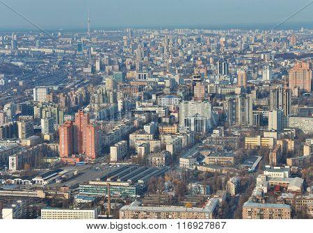 Kiev Downtown Aerial View