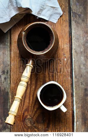 coffee, hot, black, cup