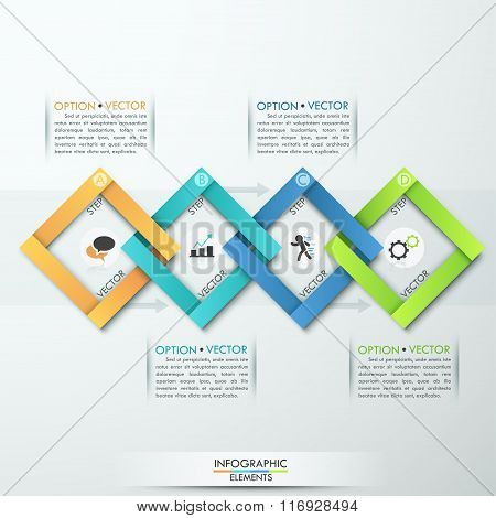 Modern business paper infographics options banner