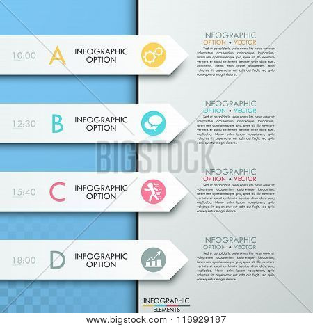 Modern business circle paper style options banner.