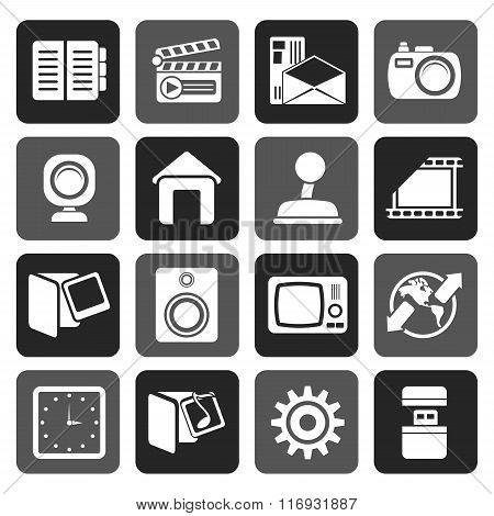 Flat Internet, Computer and mobile phone icons