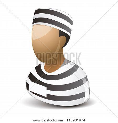 Prisoner man icon