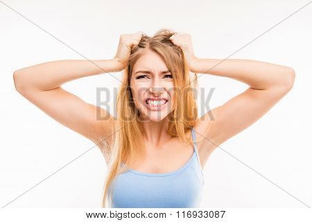 A Portrait Of Angry Woman