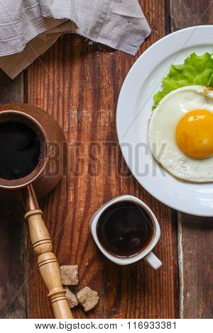 coffee, hot, egg, cup