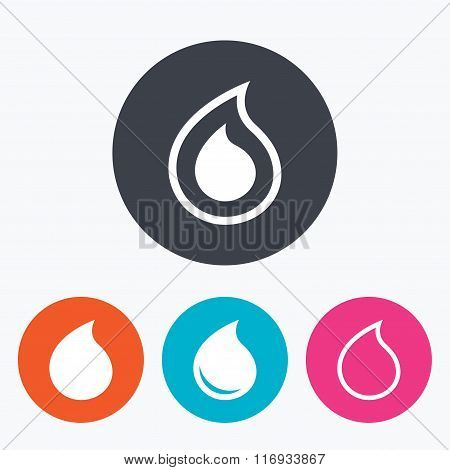 Water drop icons. Tear or Oil symbols.