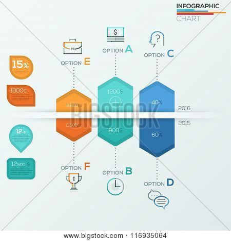 Collection of infographic brochure elements for business data visualization