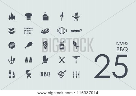 Set of BBQ icons