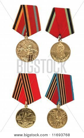 Soviet military commemorative medals.
