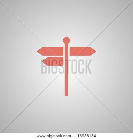 Signpost Icon. Flat Design Style.