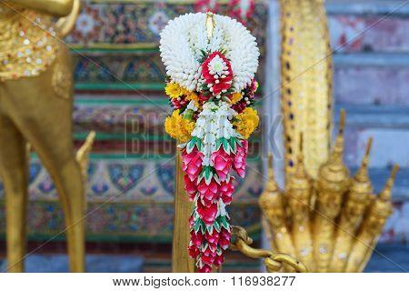 Garland To Worship Buddha Statue