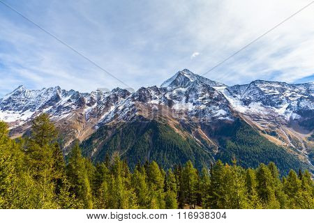 Bietschhorn Above The Loetschental Valley