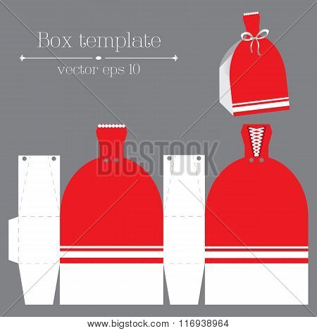 Vector Box Template. Red Glad Rags.