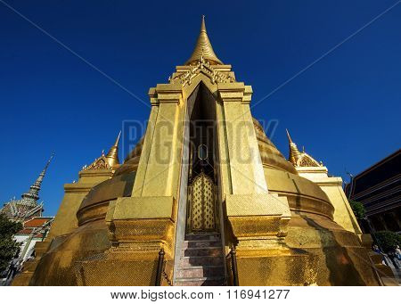 Large Golden Pagoda At Wat Phra Kaew, Bangkok