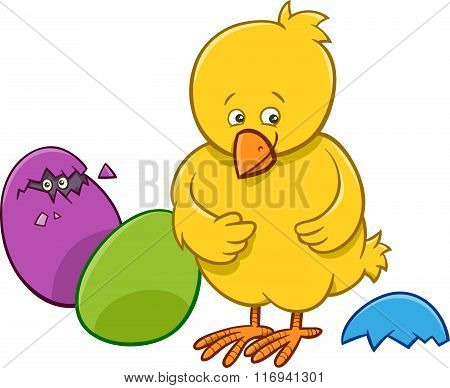 Easter Chicken Cartoon Character