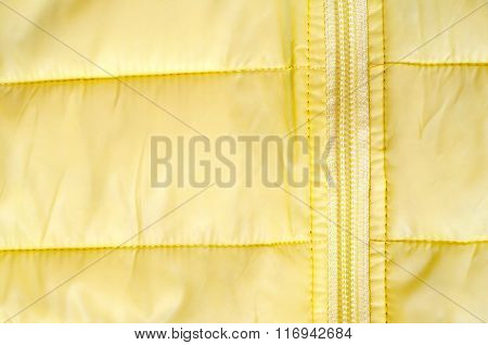Yellow Background With Fragment Jacket And Zip