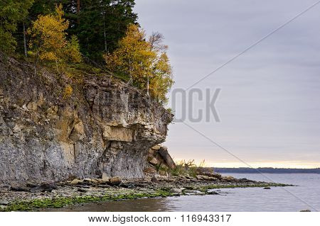 Stone wall on the Baltic sea