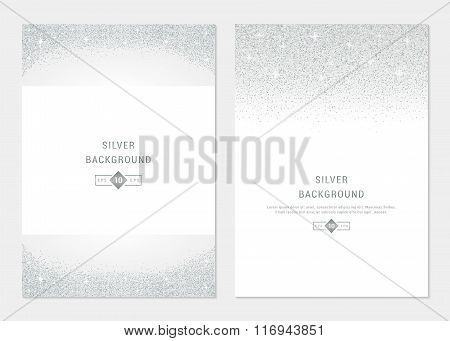 Vector Silver Banners And Cards