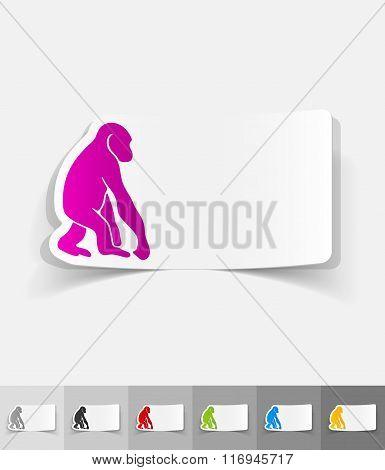realistic design element. monkey