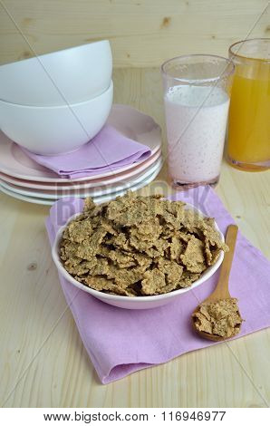 Meal Of Cereals And Milk