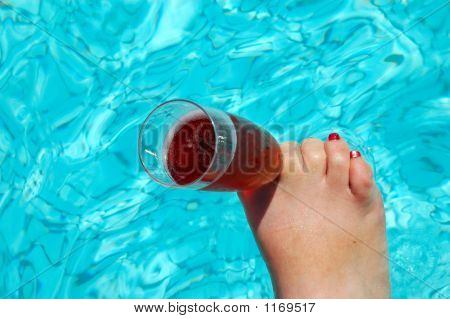 Foot With Champagne Glass