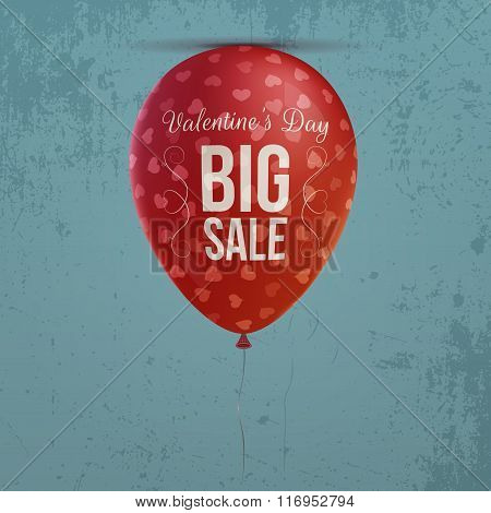 Valentines Day realistic holiday red Balloon