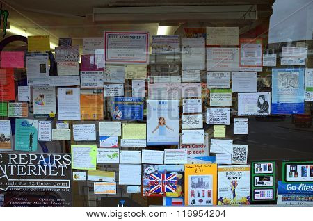Newsagents Window Cards