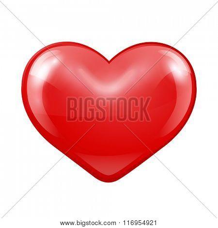 Red Heart.Vector illustration