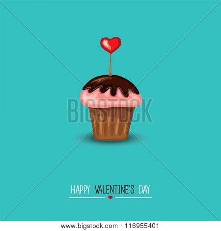 Valentine Design Greeting Card.Vector illustration