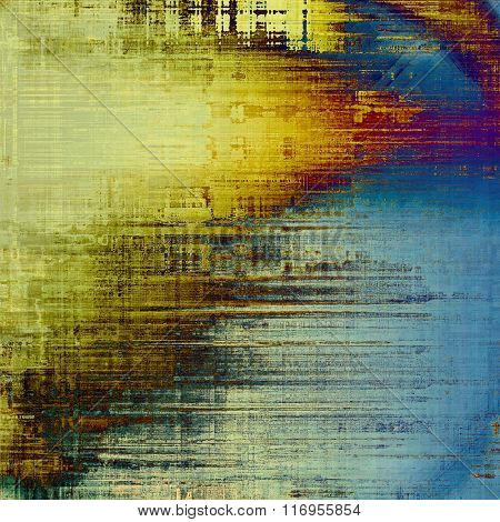 Abstract grunge textured background. With different color patterns: yellow (beige); brown; blue; purple (violet); cyan